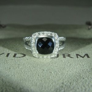 David Yurman Petite Albion Black Onyx Ring
